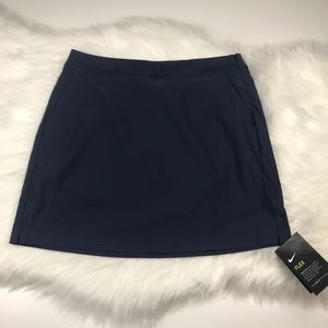 Nike Dri Fit Flex Golf Skort Navy Blue Sz 4
